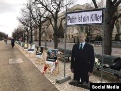 Berlin, 2021. február 27-én, Borisz Nyemcov meggyilkolásának hatodik évfordulóján.