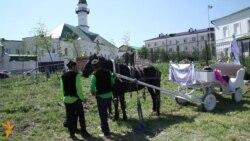 Казан Сабантуена беренче тапкыр атлар җиңеп бүләк җыйдылар