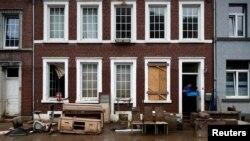 Pamje nga dëmet e shkaktuara nga shiu në Belgjikë. 24 korrik 2021.