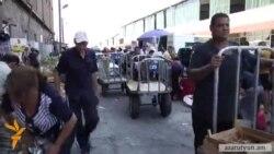Մալաթիայի շուկայում գյուղմթերք վաճառողները պահանջում են չարգելել բացօթյա առևտուրը