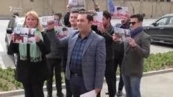 """Bakıda """"Nadia Savchenkoya azadlıq!"""" tələbi"""