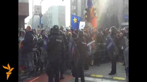 Инциденти и протести пред и во Собрание на РМ