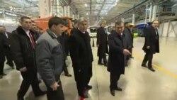 Атамбаев и Мирзиёев посетили предприятие «Man Auto-Uzbekistan»
