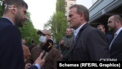«Схеми» запитали у Віктора Медведчука про його пов'язаність з Миколою Вороб'єм
