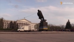 Lenin Statue Toppled In Kramatorsk