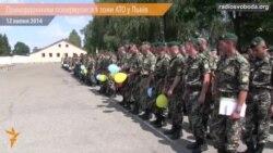 На Львівщині прикордонників вітали оплесками і вигуками «Слава героям!»