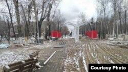 Центральный парк Семея в ноябре 2020 года. Фото — правозащитника Ильи Бароховского.