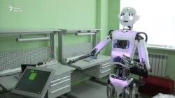 Робот к встрече Назарбаева и Путина