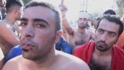 Migranti na granici zašivaju usta iz protesta