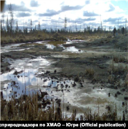 Sludge residue in the Khanty-Mansi Autonomous District in 2012 (Source: Regional branch of Rosprirodnadzor in the Khanty-Mansi Autonomous District)
