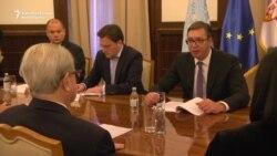 Hague Tribunal Chief Meets Vucic In Belgrade