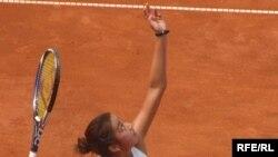 Зарина Дияс Рrague Оpen 2009 турнирінде. Прага, 17 шілде, 2009 жыл.