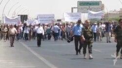 تظاهرة ضد تهجير المسيحيين