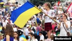 Марш захисників на День незалежності України. 24 серпня 2020 року