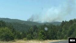 Пожар во близина на Пехчево