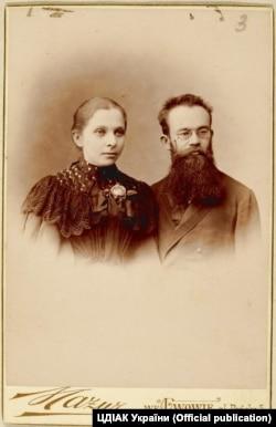 Михайло Грушевський із дружиною Марією. Львів, 1896 рік