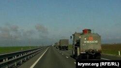 Російська військова техніка на території Керченського півострова, квітень 2021 року