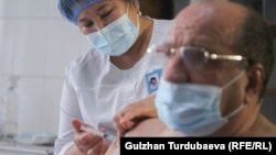 Вакцинация от коронавируса в Бишкеке.