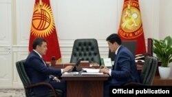 Садыр Жапаров жана Улукбек Марипов