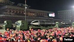 Военный парад в Пхеньяне (архивное фото).