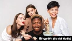 """Рекламная кампания сети суши-баров """"Ёбидоёби"""""""