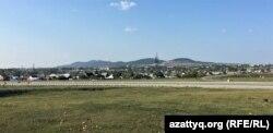Вид на город Щучинск. Акмолинская область, 25 августа 2021 года