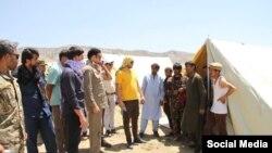 په وروستیو کې لسګونه خلک له افغانستانه تاجکستان ته اوښتي - د ۲۰۲۱ز کال د جولای نهمې انځور.