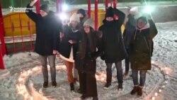 """Proteste """"cu lumini"""" în sprijinul lui Navalnîi"""