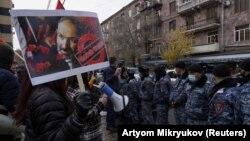 Акция протеста в Ереване, Армения, 8 декабря 2020 года