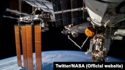 Modulul Nauka din cadrul Stației Spațiale Internaționale.