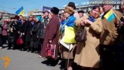 У Дніпропетровську на вічі обговорювали кандидатів у президенти й малювали «карту єдності України»