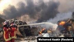 Imagini de la explozia de marți, din Liban