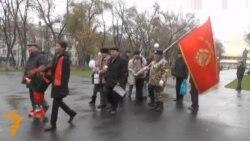 В Алматы отметили День Октябрьской революции