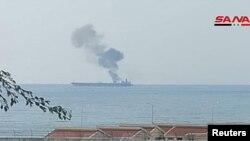 نفتکش آتش گرفتهی ایران در سوریه