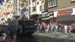 Türkiyə polisi LGBT fəallarının yürüşünü su şırnağı və rezin güllələrlə dağıtdı