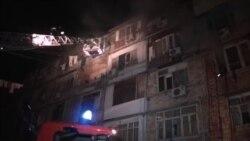Sumqayıtdakı yataqxanada yanğın [Video]