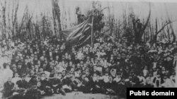 """Întrunire a cercului socialist """"România muncitoare"""", 1908"""