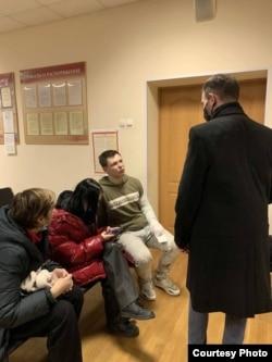 Иван Афанасьев в отделении полиции