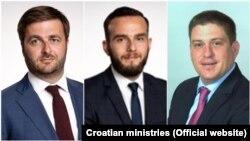 HDZ-ovi ministri Tomislav Ćorić, Josip Aladrović i Oleg Butković (fotoarhiv)