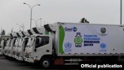 ЮНИСЕФ передал Министерству здравоохранения Узбекистана специальные автомобили для вакцинации, 23 февраля 2021 г.