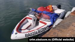 Моторная лодка, наехавшая на мужчину у берегов Крыма 24 августа 2021 года