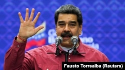 Николас Мадуро на митинге в Каракасе, 6 декабря 2020 года