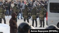 Протесты в Новосибирске, архивное фото