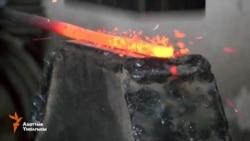 Ош: темир устанын көчө чырактары