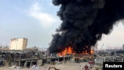 Пожар в порту Бейрута, 10 сентября 2020 года.