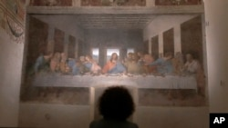 În Italia s-au redeschis muzeele, restaurantele și barurile, Santa Maria delle Grazie, Milano, 9 februarie 2021