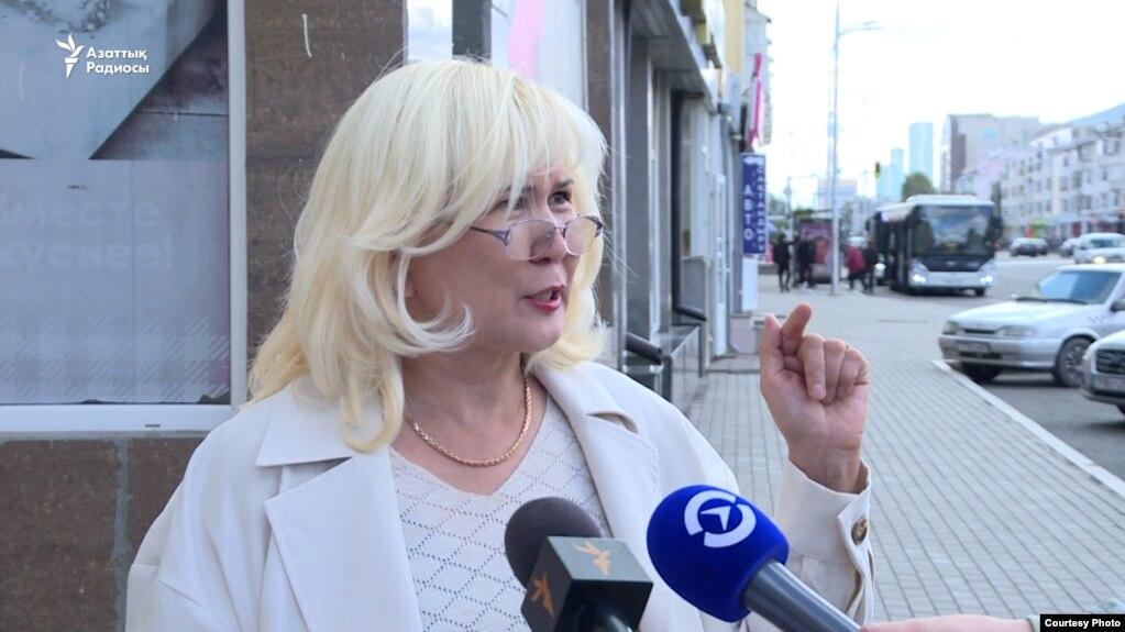 Гражданская активистка Санавар Закирова. Нур-Султан, 13 сентября 2021 года