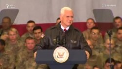 Vice President Mike Pence Speaks To U.S Troops In Afghanistan
