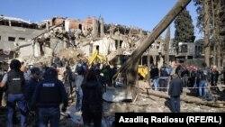 Разрушения в Гяндже