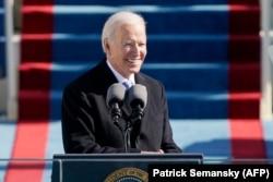 Президент США Джо Байден выступает с инаугурационной речью